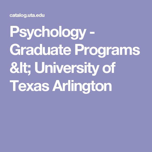 Psychology - Graduate Programs < University of Texas Arlington