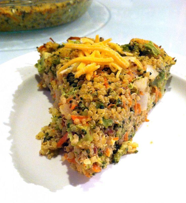 Broccoli Cheddar Quinoa Pie [Hummusapien]