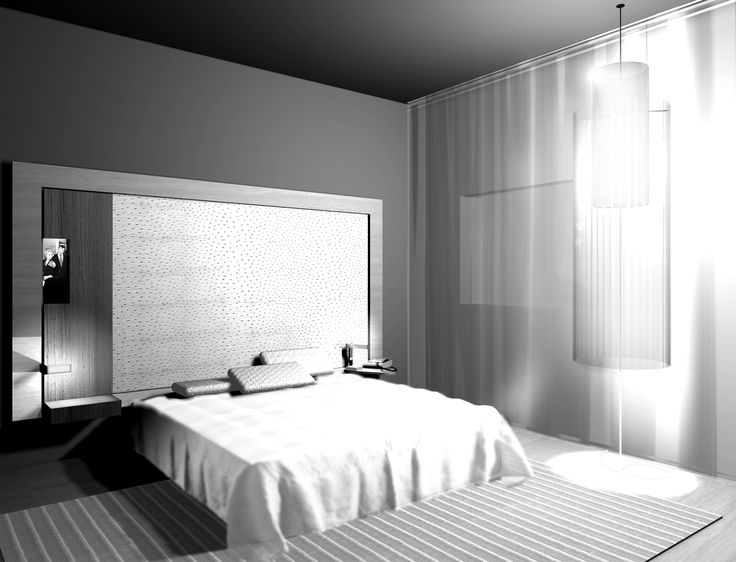 Render of a room from ''Monginevro Hotel''  for competition which ''Starhotels'' got the first prize. #1st #Prize #Sketch #Interior #Light #Curtain #Render #Table #Miror #Minibar #Bed #Hotel #Lights #Architecture #Desing #Render #3D #Carpet #Gray #White #Black #ClaudioNardi #ClaudioNardiArchitects