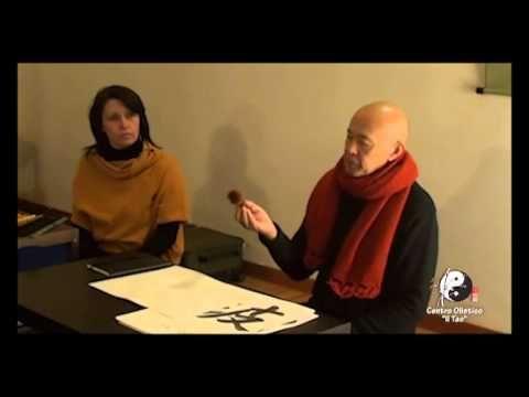 Calligrafia cinese con Quan Shiran - YouTube