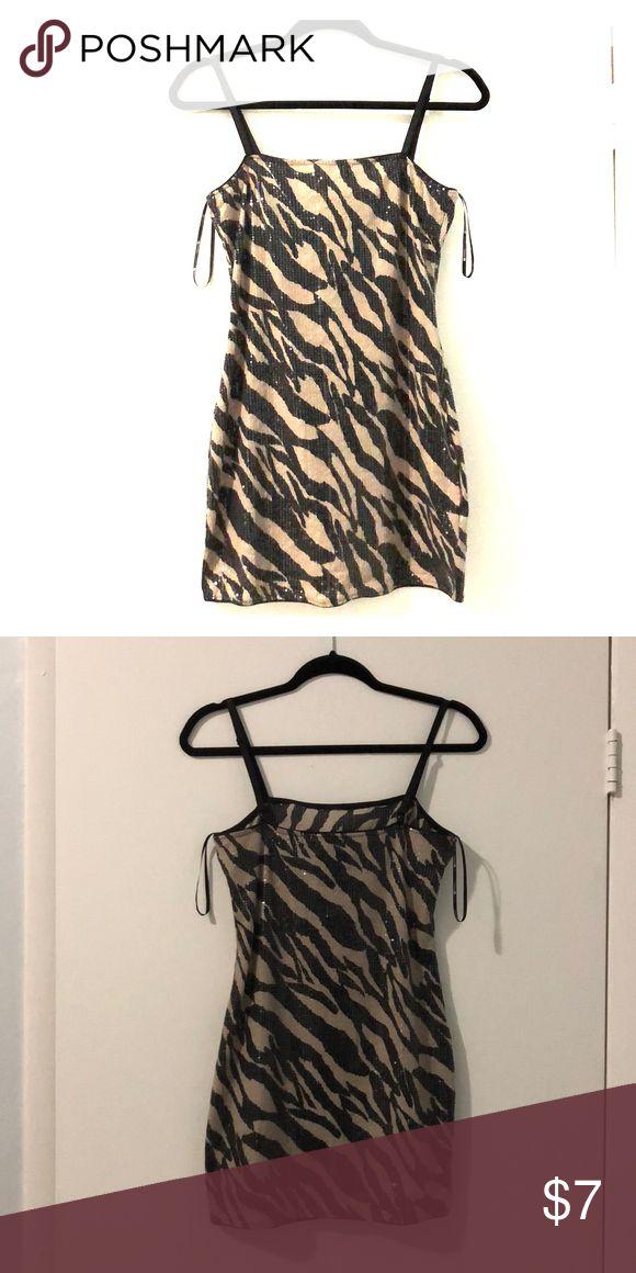 Sequin Animal Print Mini Dress Forever 21 Animal Print Sequin Mini Dress Forever 21 Dresses Mini