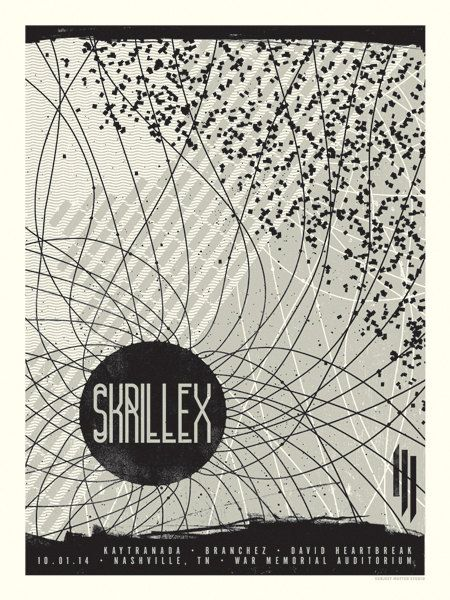 Skrillex Concert Poster Nashville TN  Night 2