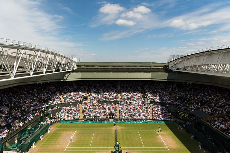 The views of Centre Court, during Serena Williams and Elena Vesnina's semi-final match