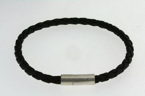 21cm black rubber bracelet