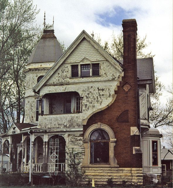 "The Walter B. Palmer House, completed around 1896. An example of design #73 from the periodical ""American Homes"". George F. Barber, architect. Via Chris DiMattei & Metraguy: Victorian House, Abandoned Home, Dream House, Old Houses, Abandoned Buildings, Homes, Abandoned Houses, Abandoned Places, Palmer House"