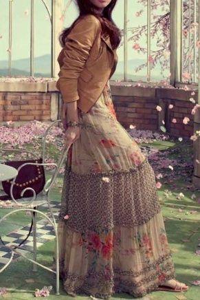 maxi skirt & jacket