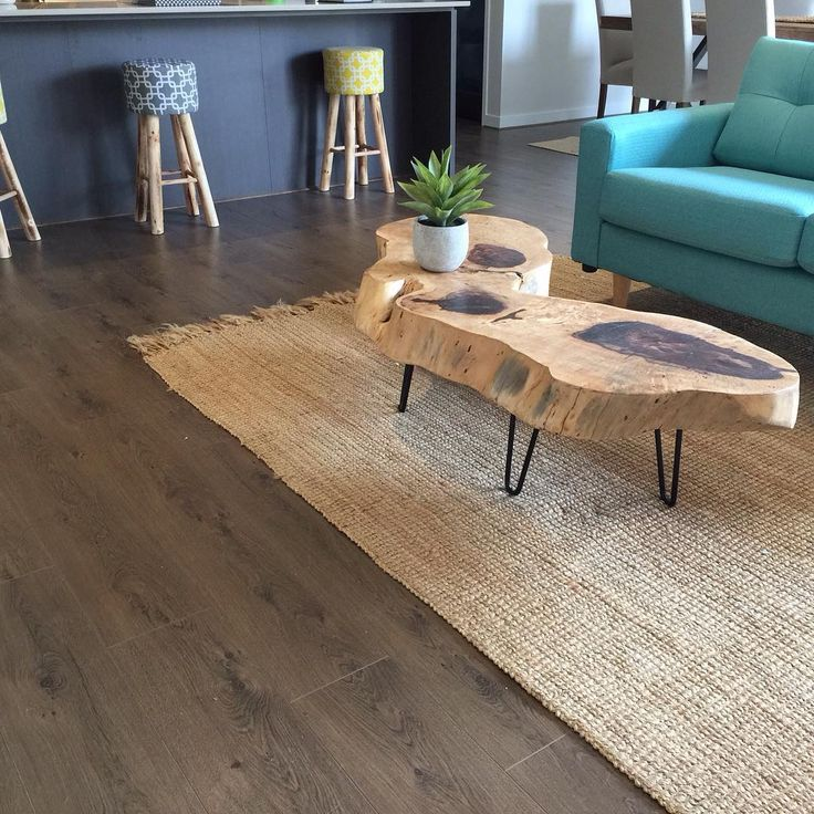 Beautiful timber slab table by Melbourne timber slabs, using our hairpin table legs