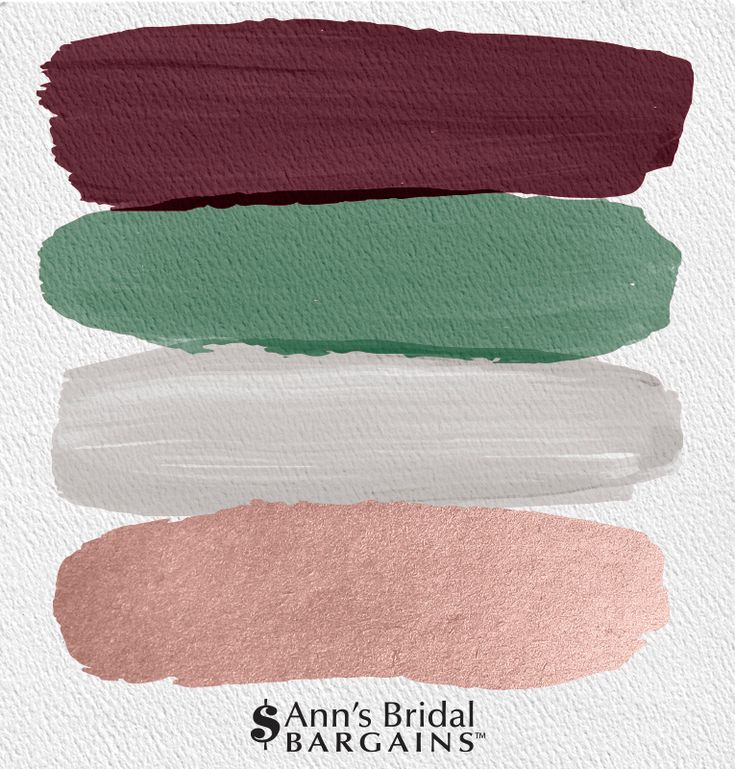 The Perfect Palette: Burgundy, Fern, Gray and Rose Gold The Perfect Palette: Bur…