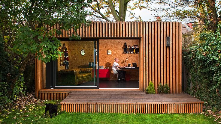 One possible configuration of Ecospace's modular garden studios. I can only dream of working from one of these!