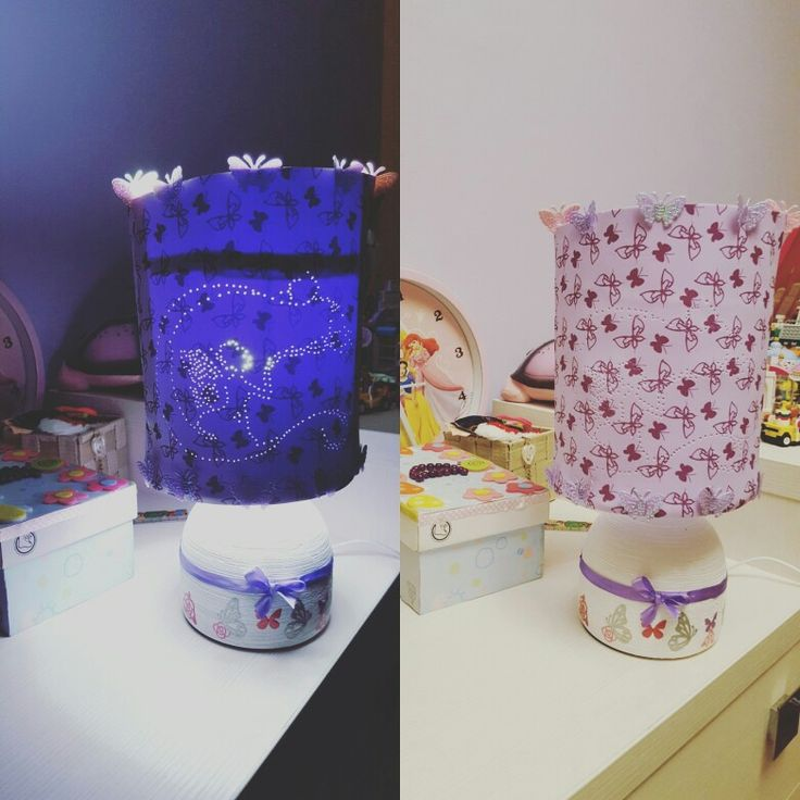 DIY lamp for little girls  #diyproject #diy #diylamp #diylamps #lamps #lamp #girlylamp #girly #kidslamp