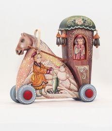 деревянная лошадь . ручная роспись