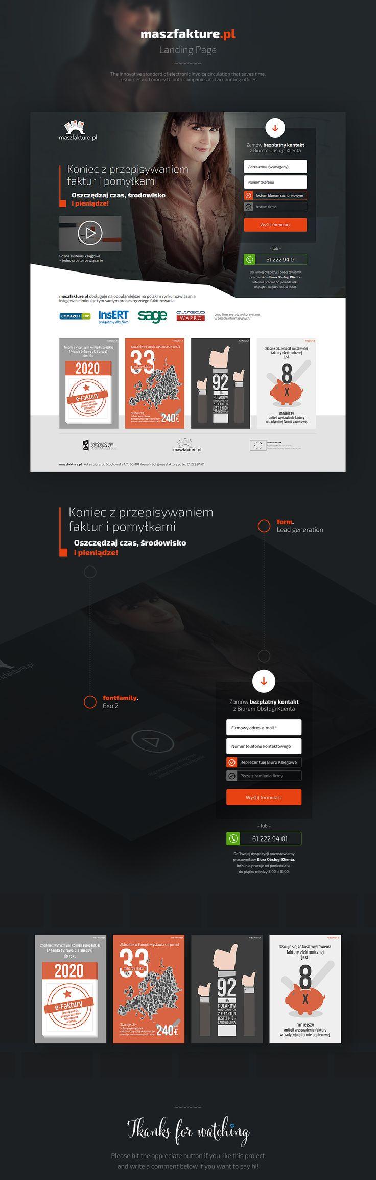 MaszFakture.pl - Landing Page #webdesign #landingpage #web #design #landing #page #piotr #wolniewicz #piotrwolniewicz