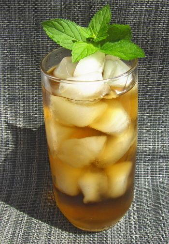 Flash in the Pan:  Ginger-Mint Iced Tea