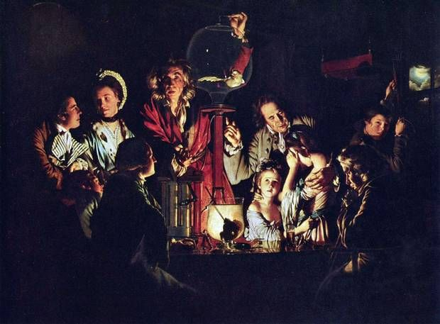 Joseph Wright of Derby, Experiment with a Bird in an Air Pump, 1768 - Possible related text