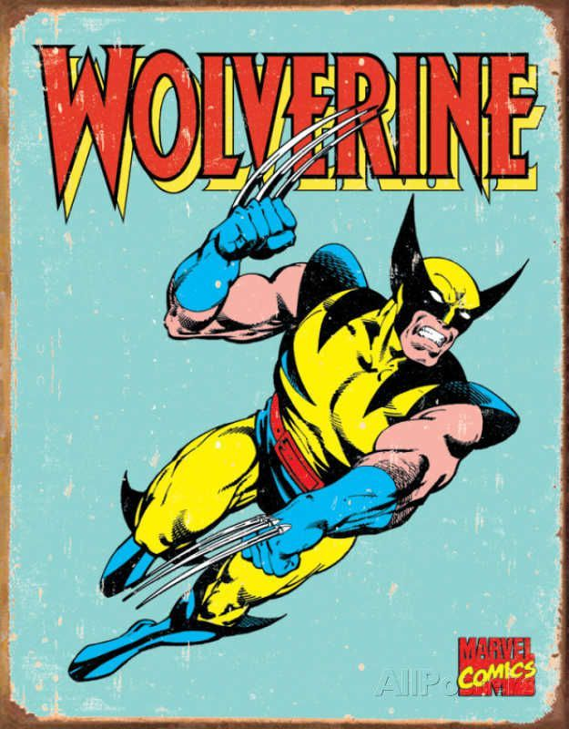 Wolverine Marvel Retro Comics Tin Sign
