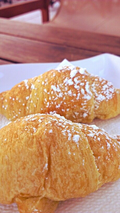 A nice Saturday #breakfast with delicious #croissants! #Goodmorning!
