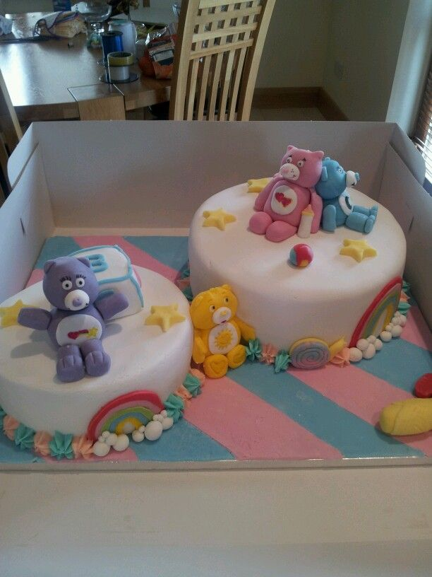 Nicola's Carebear Baby Shower Cake