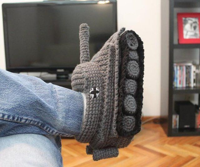 Tank Crocheted Slippers