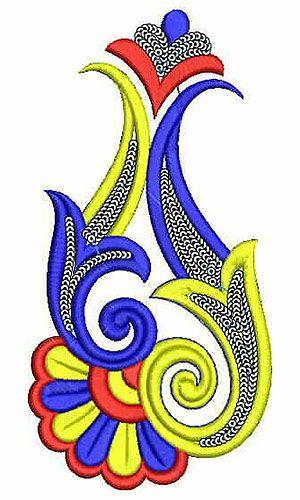 Pullover Dress Applique Embroidery Design