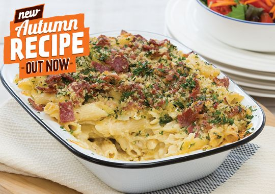 Our new Bacon and Cheese Pasta is sure to be a hit with the family. Plus it makes the perfect leftovers for school lunches the next day!