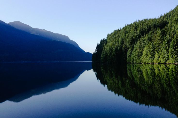 Morning calm while camping on the Indian Arm, BC