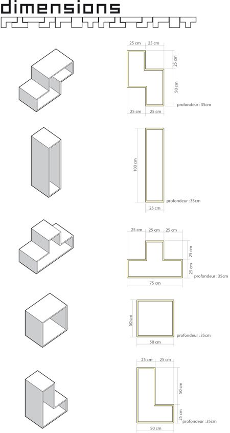 Lost: a tetris inspired shelving system  oh yes