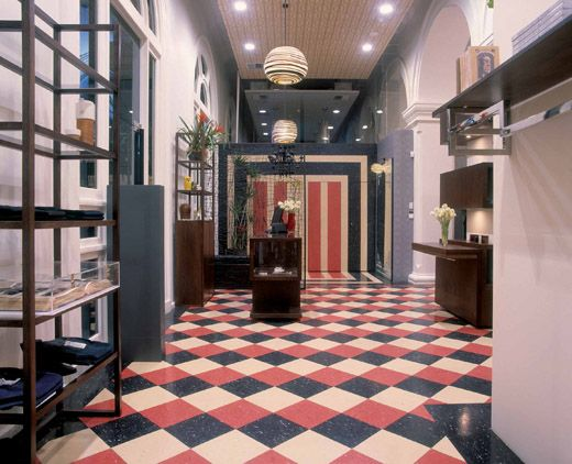 This Tri Color Checkered Vinyl Floor Steals The Show In