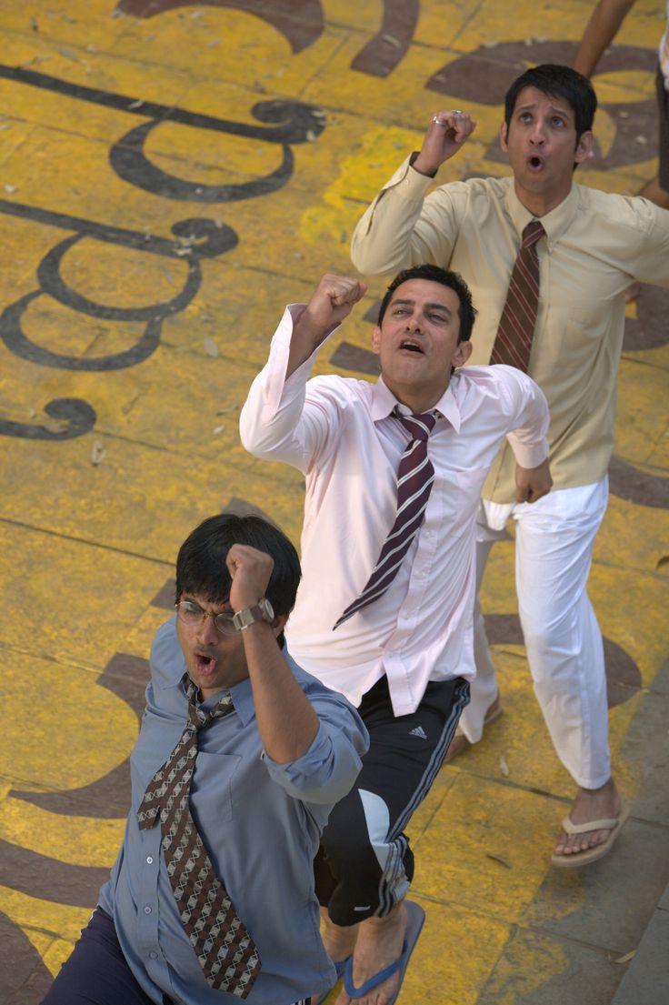 3 Idiots [2009] directed by Rajkumar Hirani, starring Aamir Khan, Kareena Kapoor, R. Madhavan, Sharman Joshi, Omi, and Boman Irani.