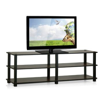 Thin TV stand for basement