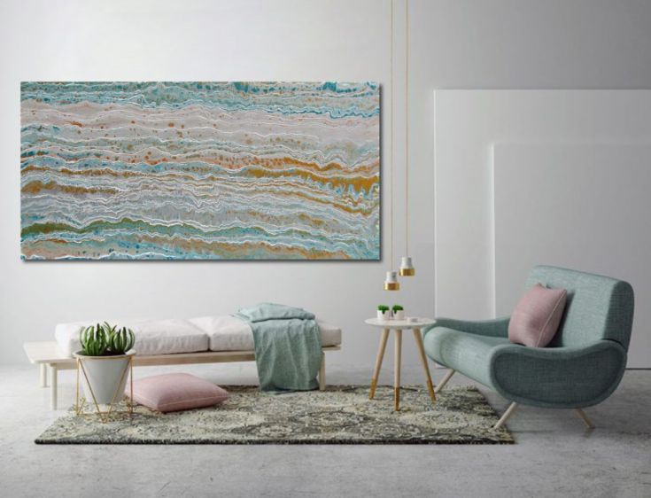 Buy Strata Series - abstract painting by Kelly Richards, 122 x 61cms, (48 x 24ins) Gold, Silver, Turquoise, Acrylic painting by Kelly Richards on Artfinder. Discover thousands of other original paintings, prints, sculptures and photography from independent artists.