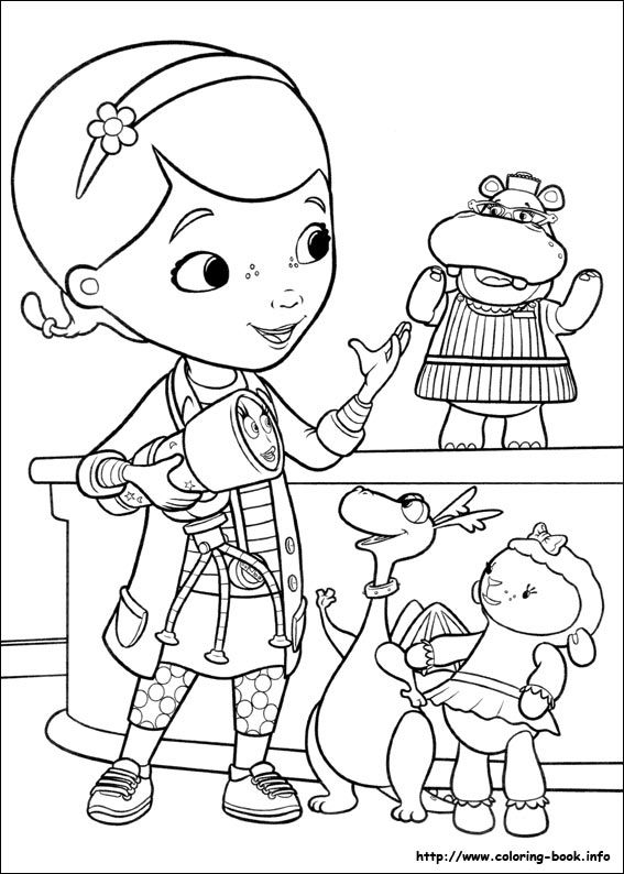 Doc Mcstuffins Coloring Pages Disney Junior : Doc mcstuffins coloring picture disney pages