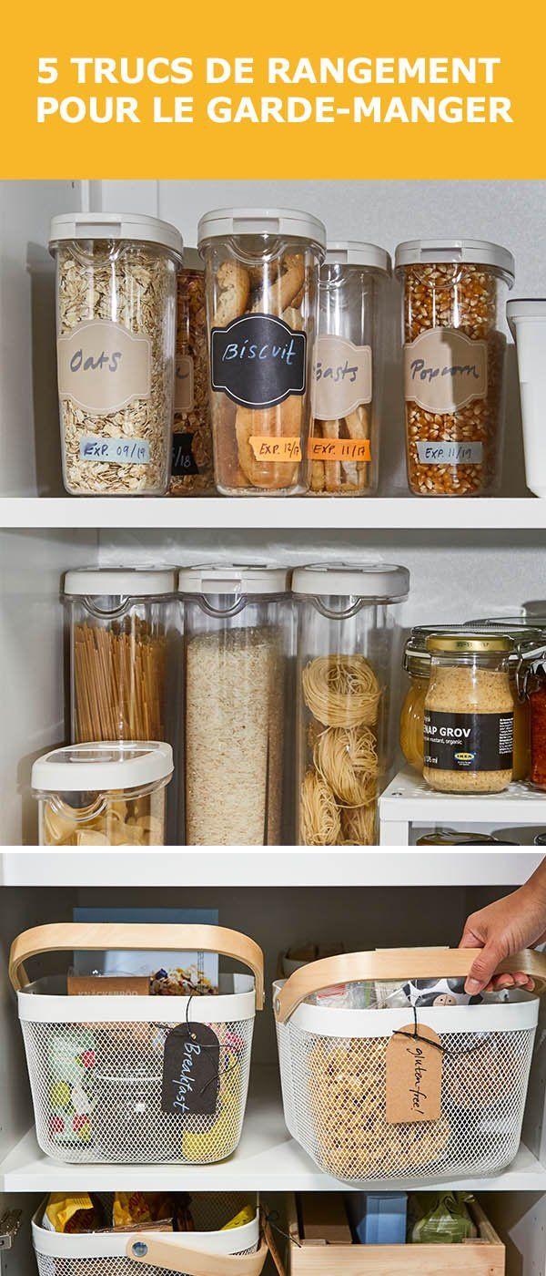 Rangement Pour Garde Manger 5 astuces de rangement pour le garde-manger | idées in 2019