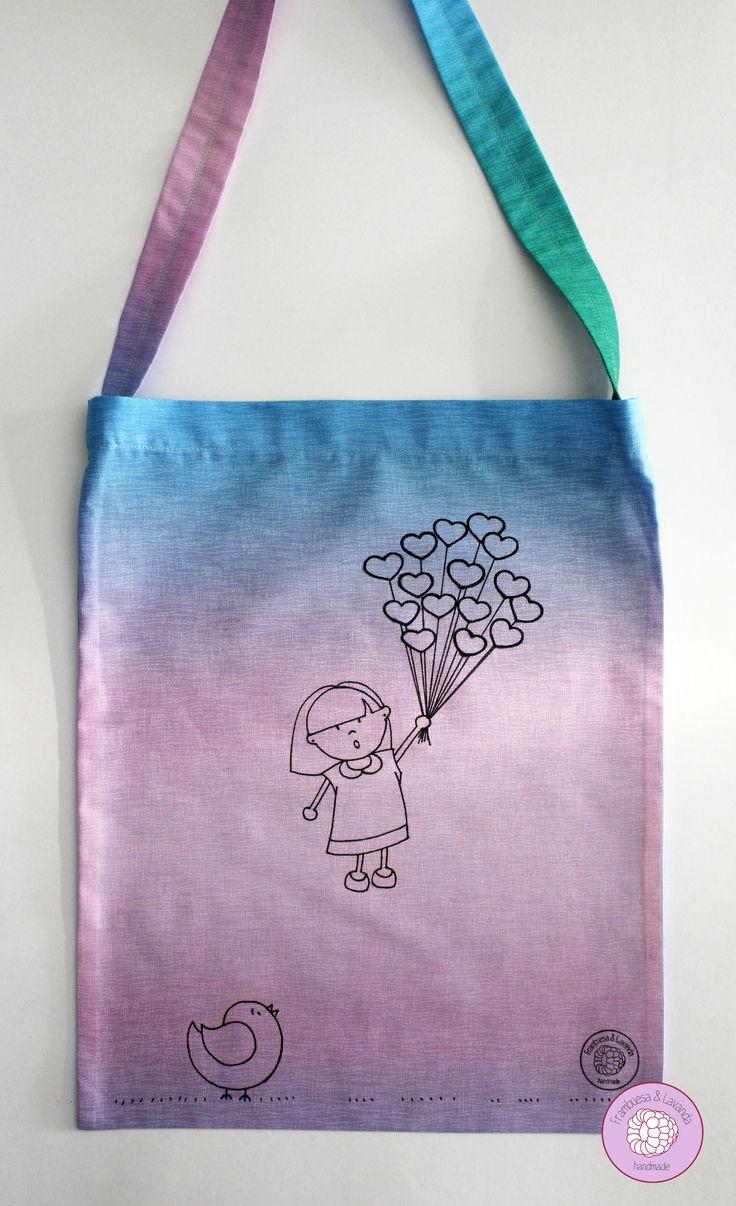 #bolsa #ilustrada #handmade #patchwork #costura #ilustración #bag