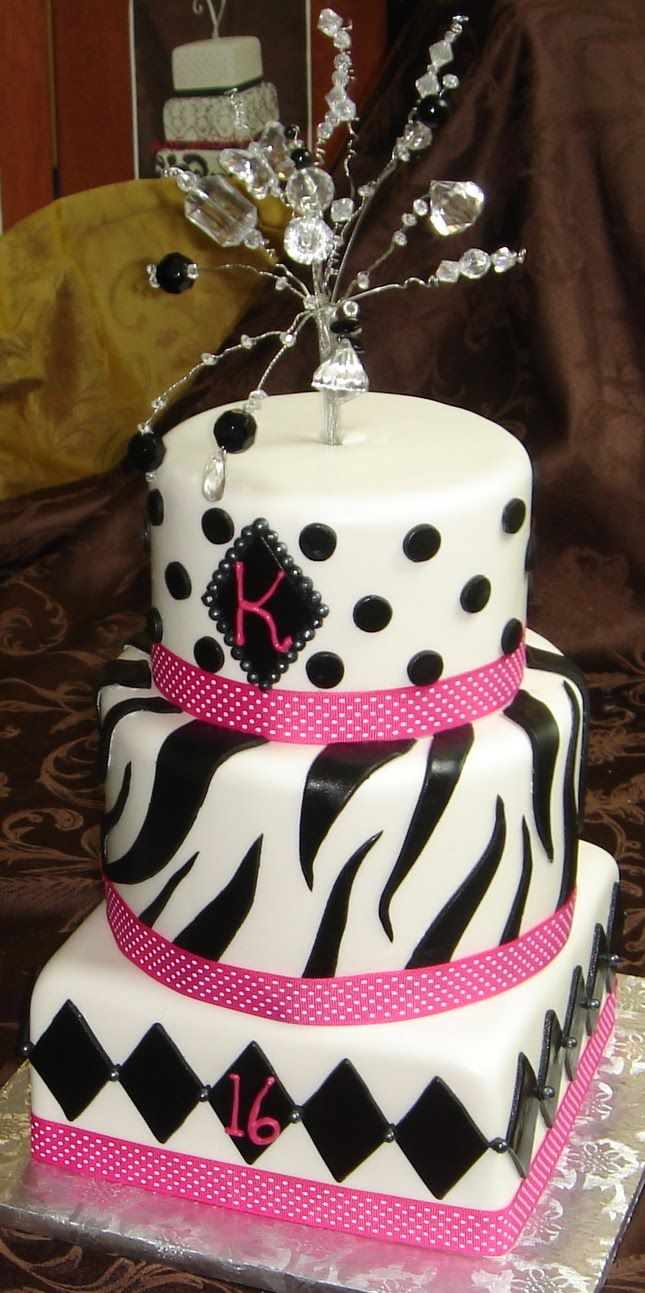 126 best 16th birthday images on Pinterest 16th birthday cakes