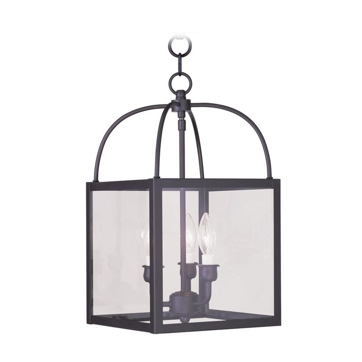 livex lighting livex lighting milford bronze pendant light with square shade