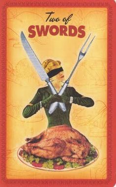 Two of Sword from the Housewife Tarot