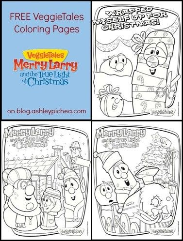 veggie tale christmas coloring pages - photo#24