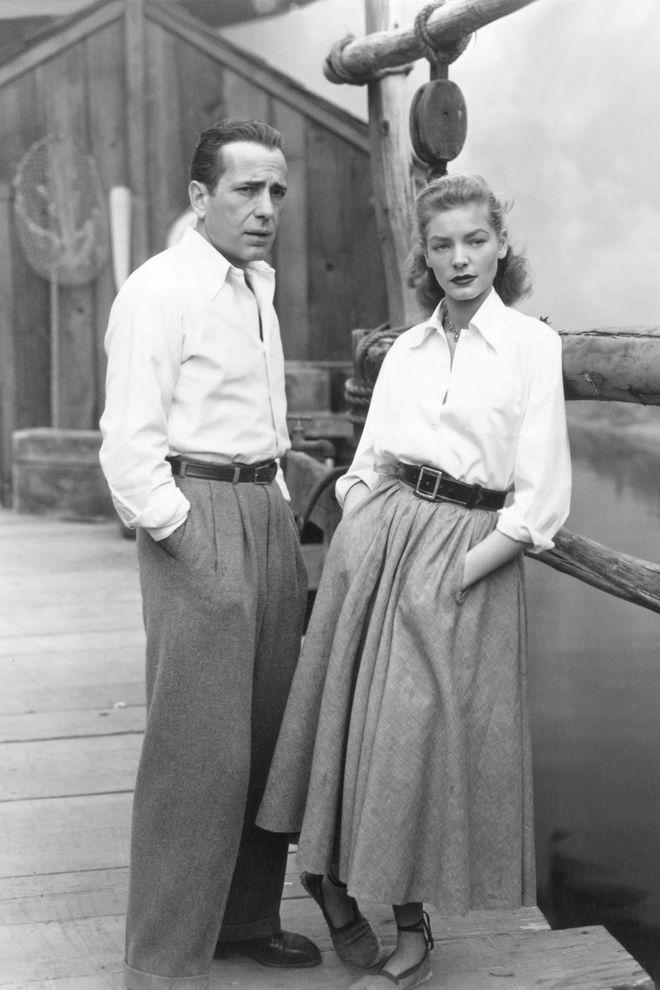 Humphrey Bogart et Lauren Bacall dans le film Key Largo de John Huston