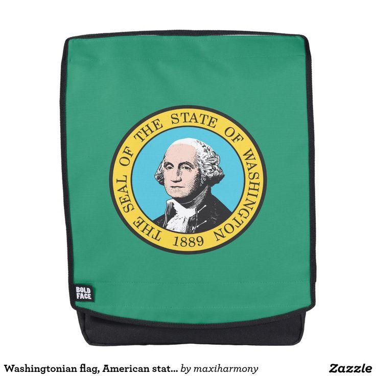 Washingtonian flag, American state flag Backpack