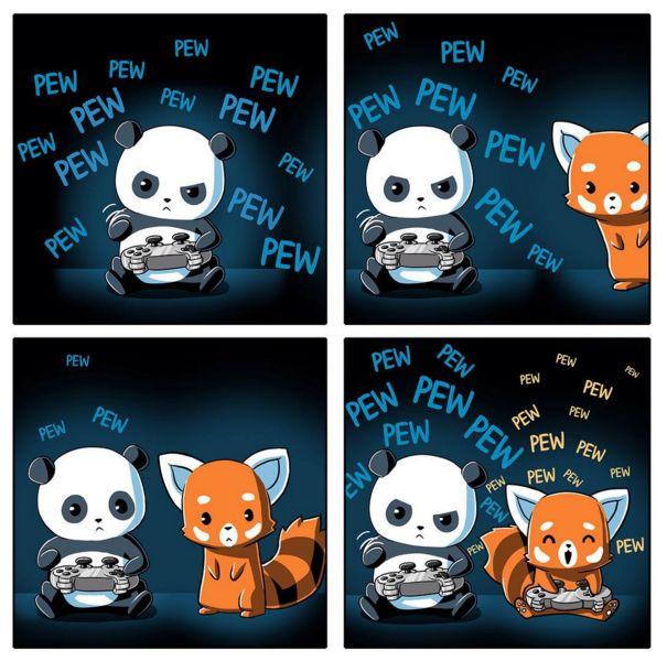 TeeTurtle Pew Pew Pandas