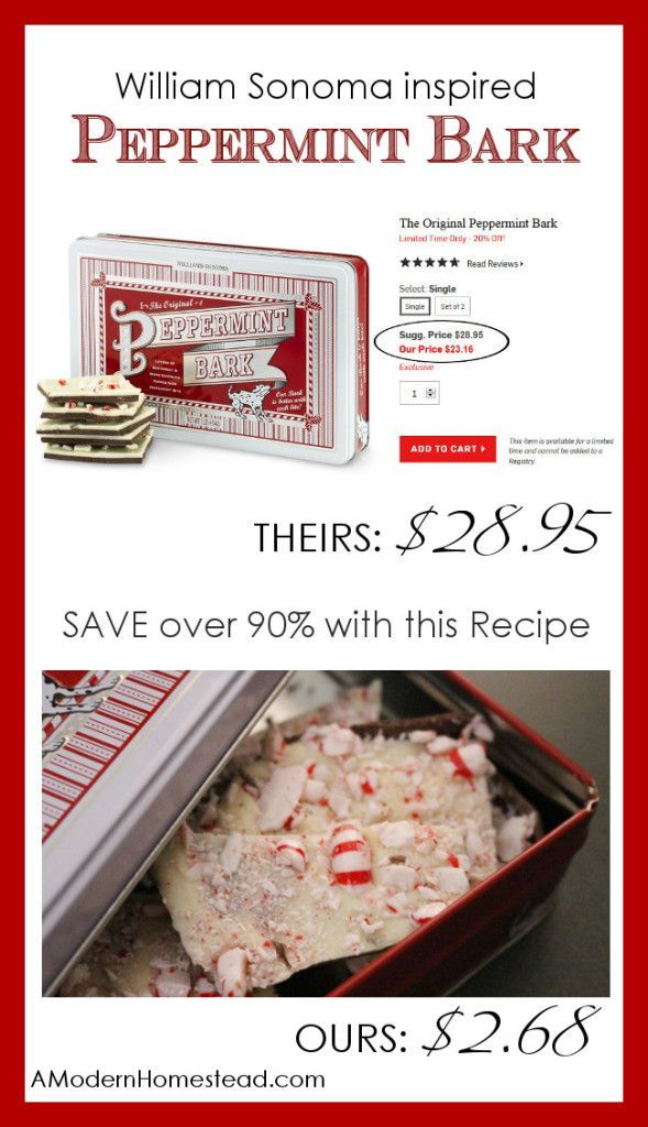 William Sonoma Inspired Peppermint Bark
