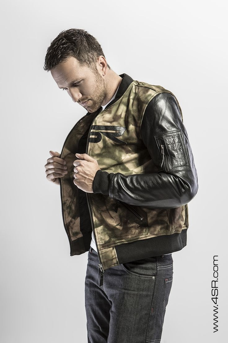 4SR Camo Bomber camouflage motorcycle jacket - the first biker jacket made from hand coloured camo leather!
