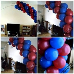 95 best balloon decor images on pinterest balloon for Balloon arch frame kit party balloons decoration