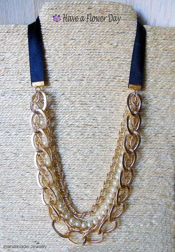EVA 02. Collar de varias vueltas con cadenas por HaveaFlowerDay