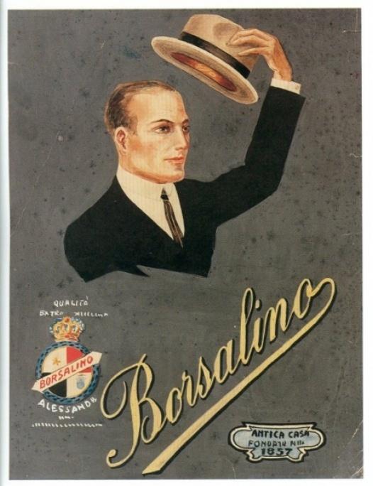 Promozione e pubblicità dello stile Borsalino