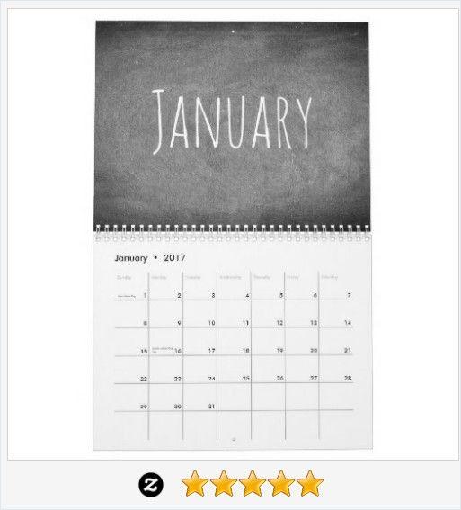 #HappyNewYear2017 Chalkboard Calendar #BlackWhite #Gifts #JustSold #ThankYou :)  http://www.zazzle.com/2017_chalkboard_calendar_black_and_white_text-158712630777017281