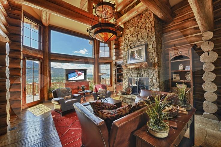 Log Cabin Living Room My Dream Home Pinterest