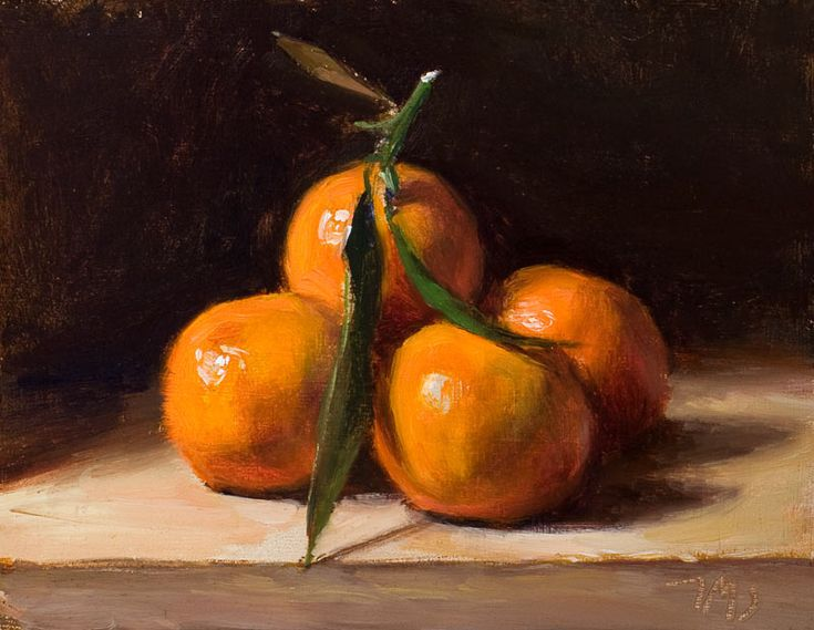 Daily paintings   Clementines   Postcard from Provence