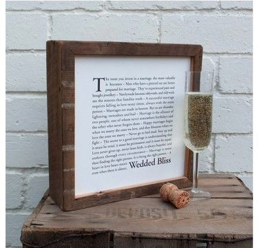 Wedded Bliss Framed Print £75.00