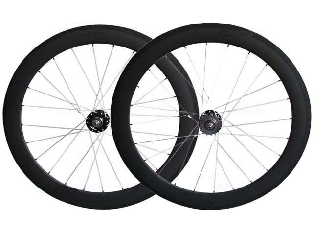 435.00$  Buy now - http://ali0gr.worldwells.pw/go.php?t=32310096302 - manufacturer sales!new tech hot wheels track bike carbon 700C 23 wide spoke rim fixie 60mm deep clincher bicycle fixie wheelsets